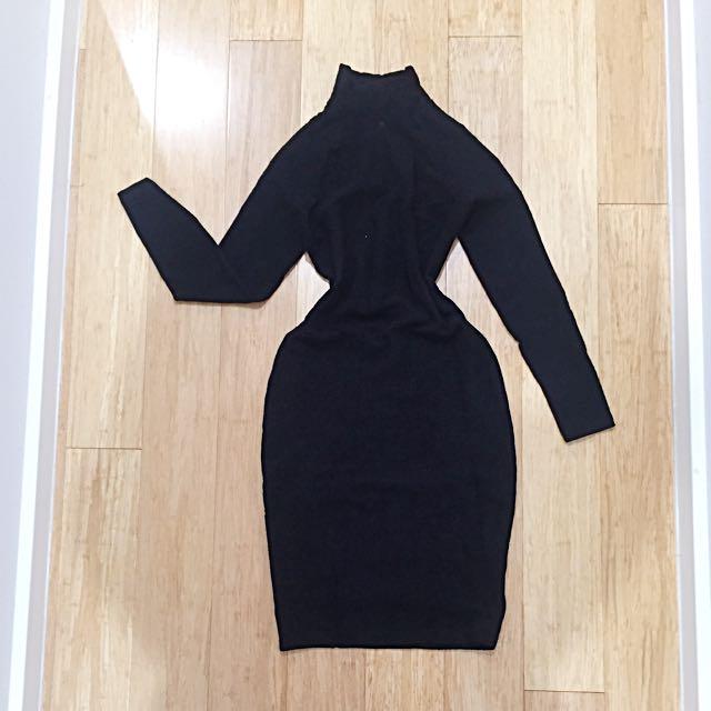 BAZAR by Christian Lacroix Lace Bodycon Dress Sz M