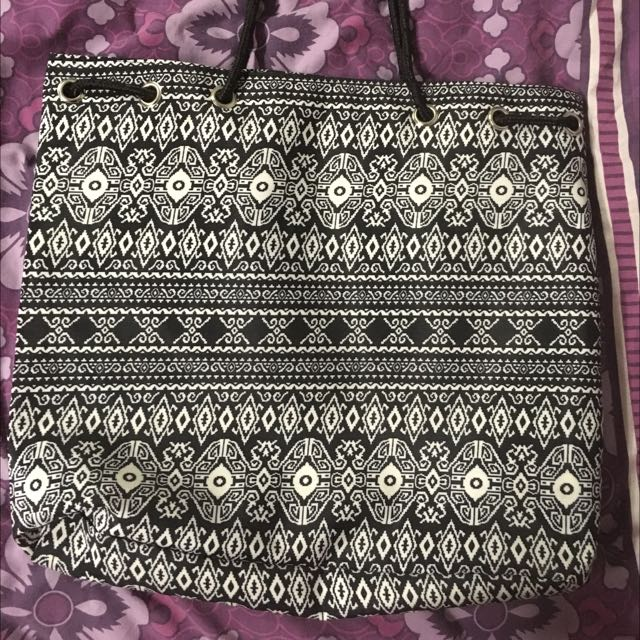 Black And White Patterned Bag