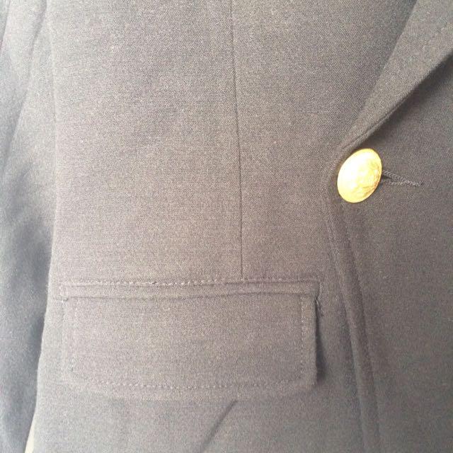 Black Military Style Jacket (size 10)
