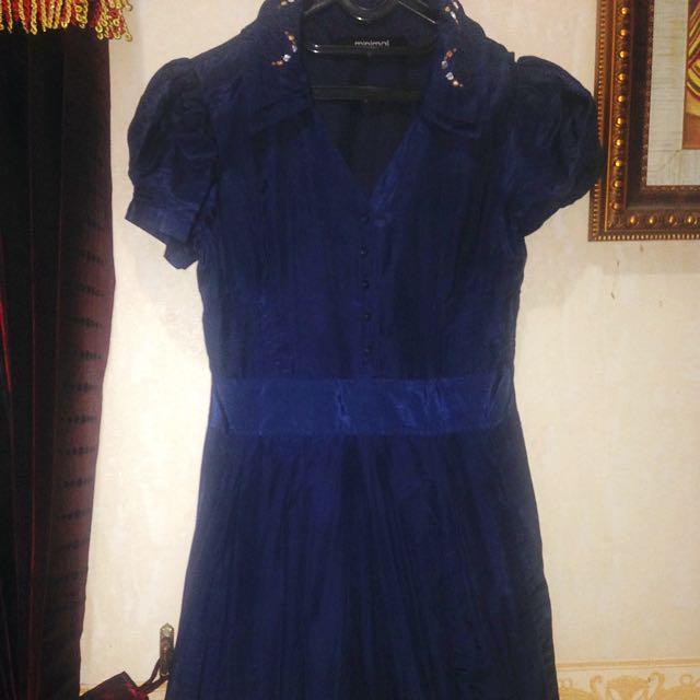 blue minimal dress