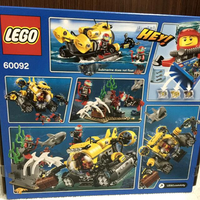 [BRAND NEW] LEGO CITY Deep Sea Submarine 60092, Toys & Games, Bricks & Figurines on Carousell