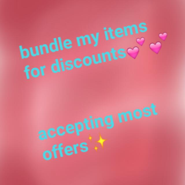 BUNDLE MY ITEMS - MAKE ME OFFERS