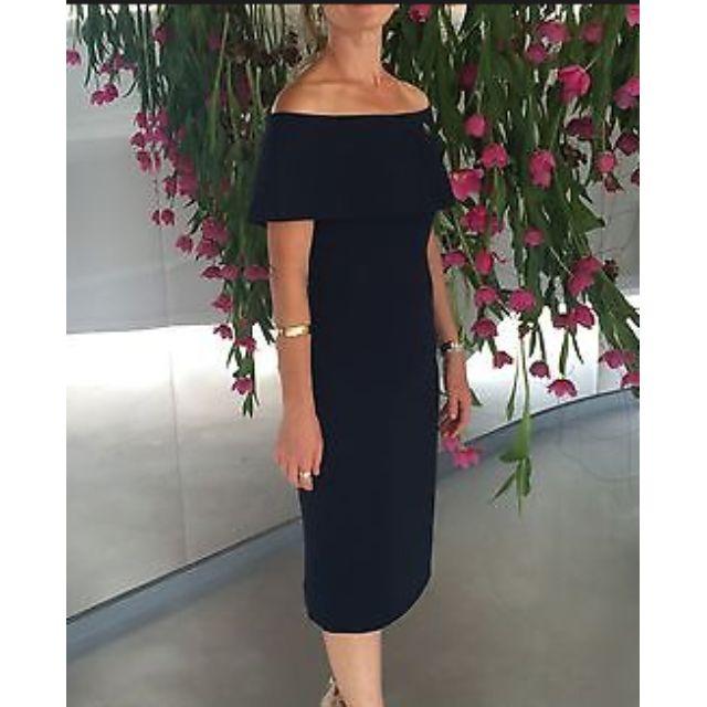 Carla Zampatti Navy Dress - Size 8