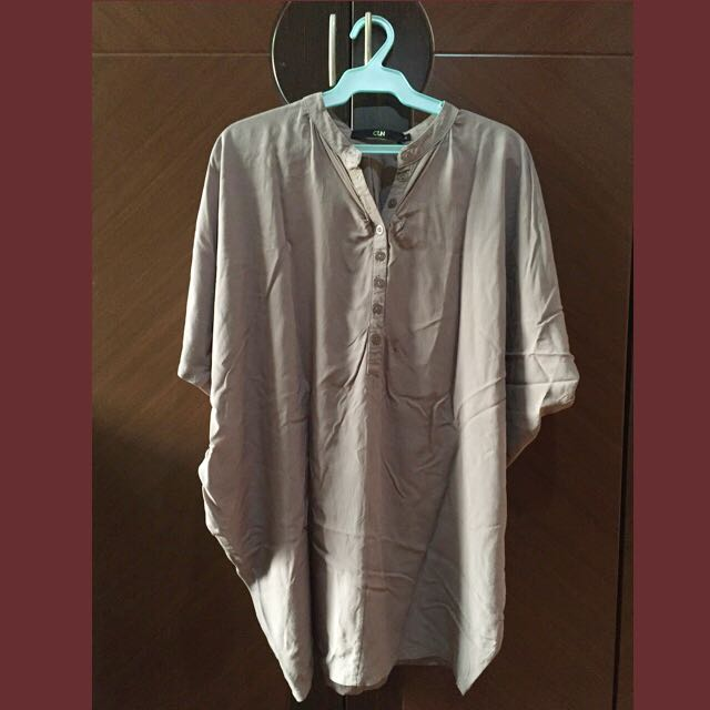 Celine Gray Batwing Sleeve Blouse