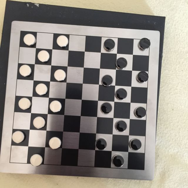 Checkers With Steel Board