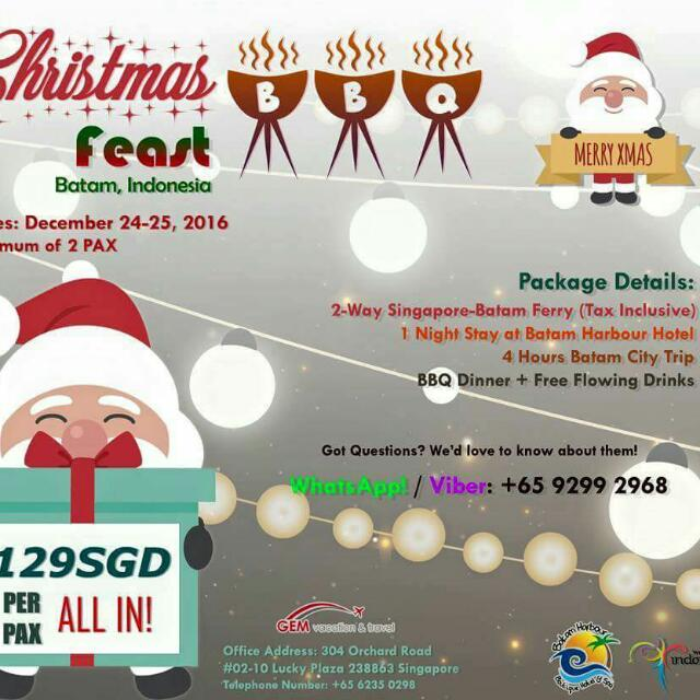 Christmas Feast In Batam, Indonesia (Travel)