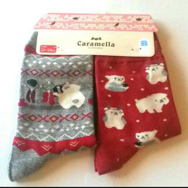 Christmas Polar Bear Socks