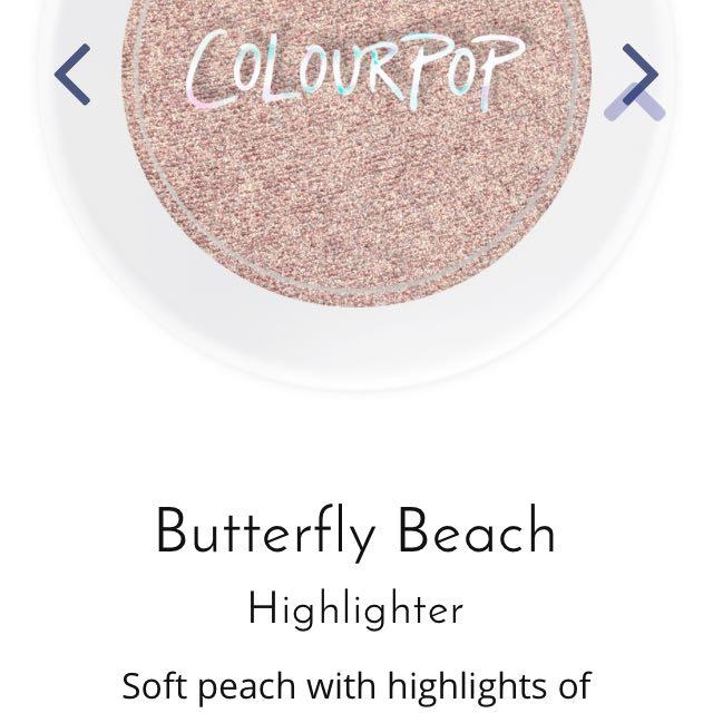 Colourpop Highlighter- Shade Butterfly Beach