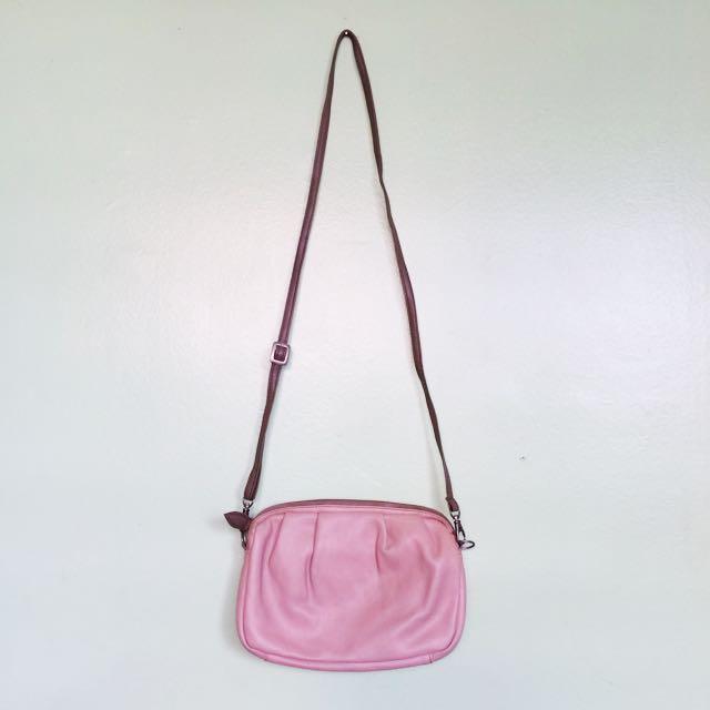 (RESERVED) Egg Pink Sling Bag