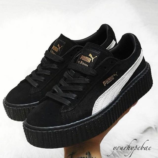 best authentic 3149f e4a3c Fenty Suede Creepers By Rihanna Black Gum