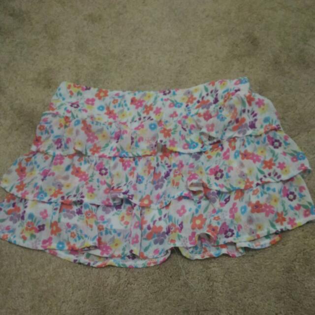 Floral Target Skirt