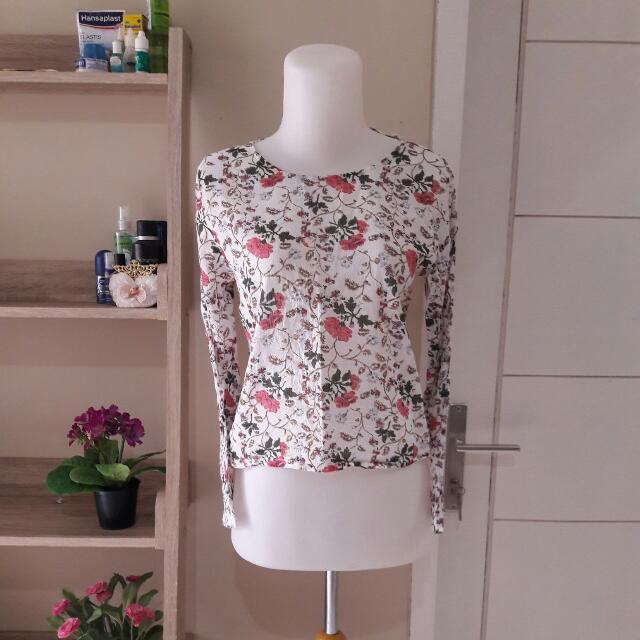 Flowery Crop Top (FREE ONGKIR)
