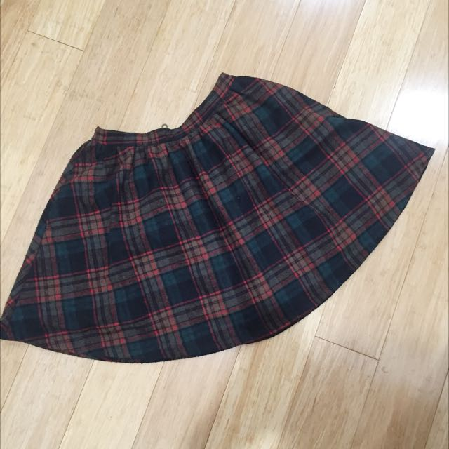 HANDSOM Tartan Mini Skirt Sz S