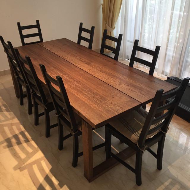 IKEA MÖRBYLÅNGA Dining Table W/ KAUSTBY Chairs For Sale