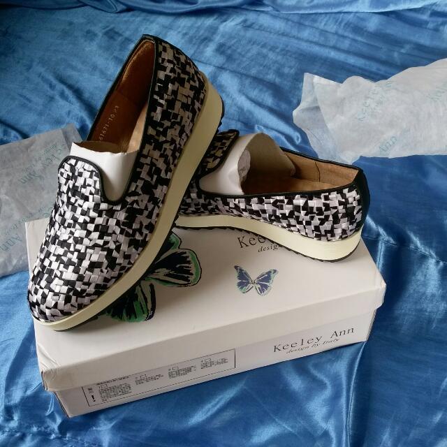 Keeley Ann 緞面編織 鞋