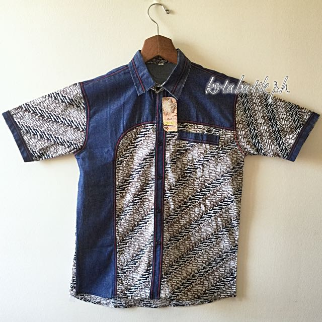 Men's Denim Batik Polo