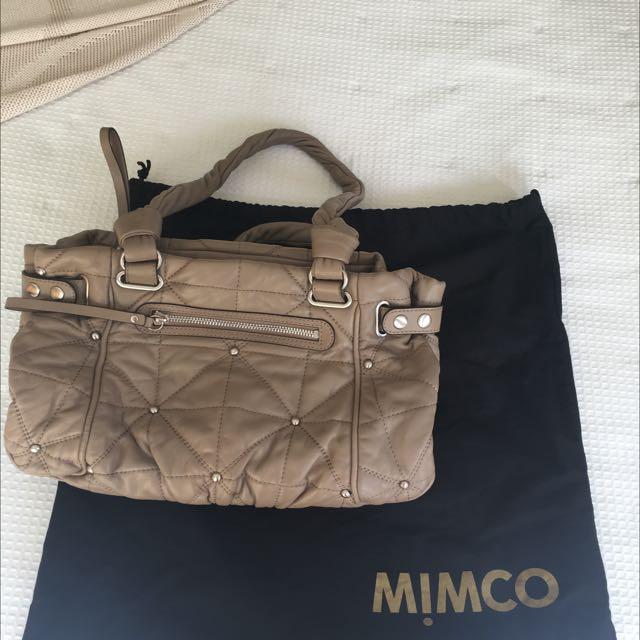 Mimco Quilted Beige Handbag