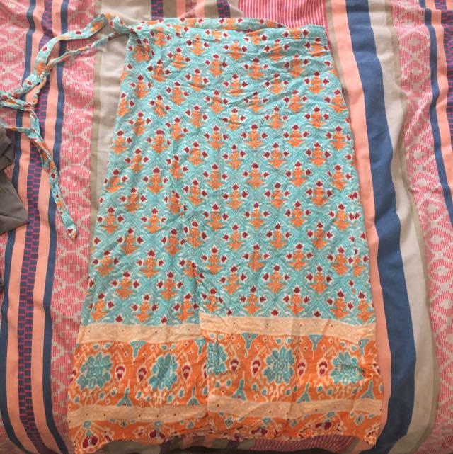 MINKPINK Wrap Around Skirt