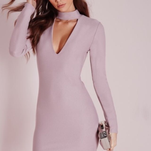 Miss guided U.K Purple Plunge Dress