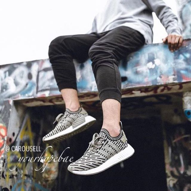 ccbc476d6 NEW  Adidas NMD R2 PK Olive Black Stripes