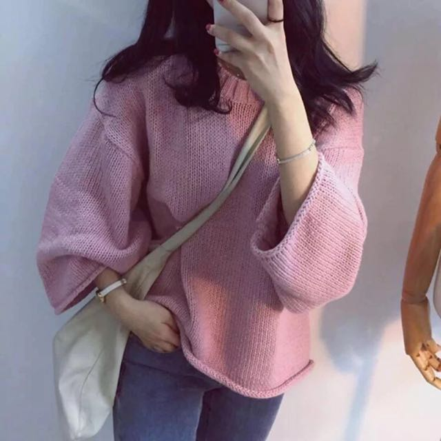 pinkpink寬鬆針織衫