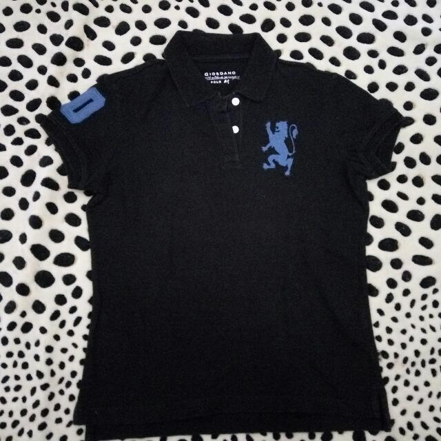 Polo Black Shirt By Giordano