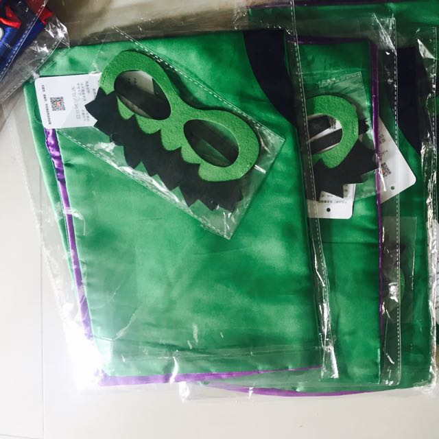CHILDREN SUPERHERO CAPE AND MASK ONLY (70cm LENGTH)