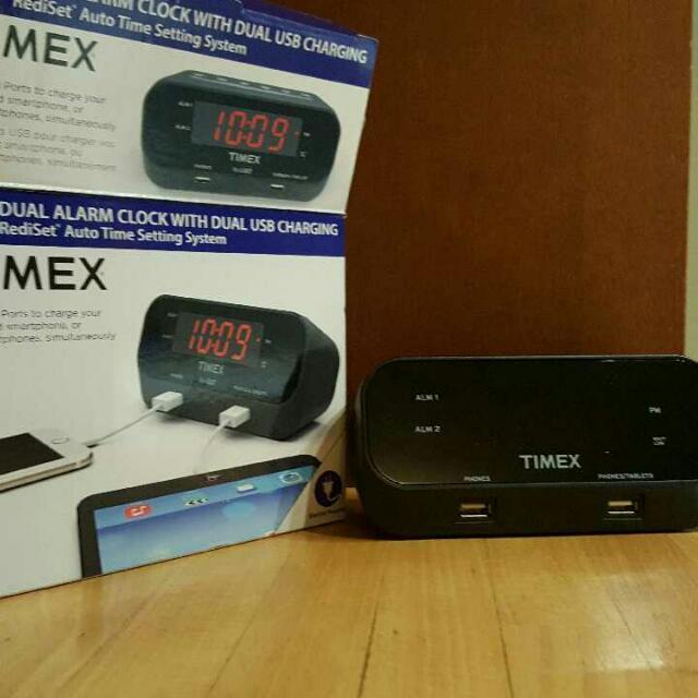 Timex Alarm Clock With Dual USB Charging