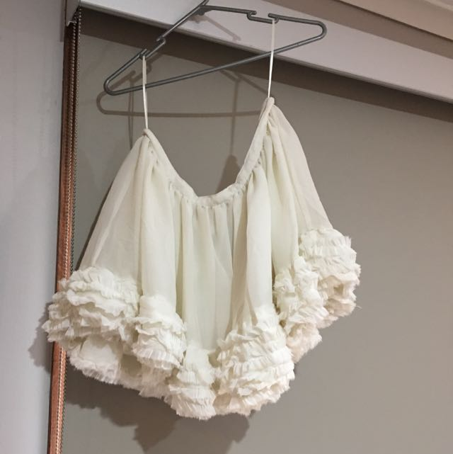 Top shop White Ruffle Skirt