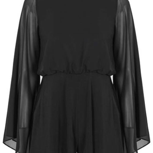 Topshop Flare Sleeve Playsuit
