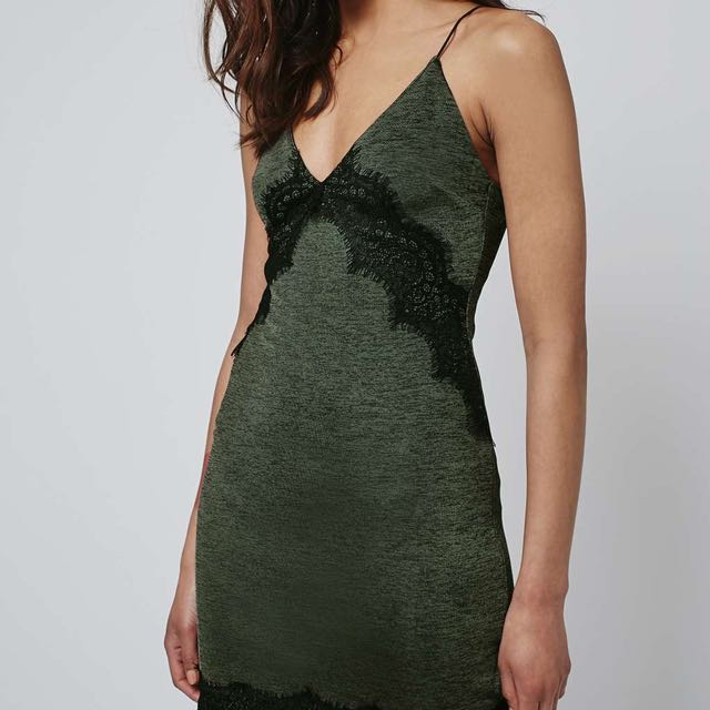 Topshop Lace Trim Dress