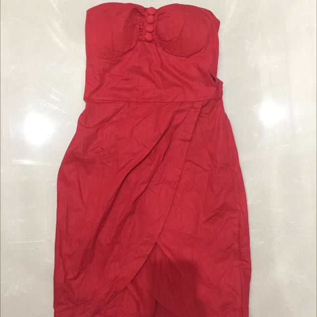 tube mini dress red