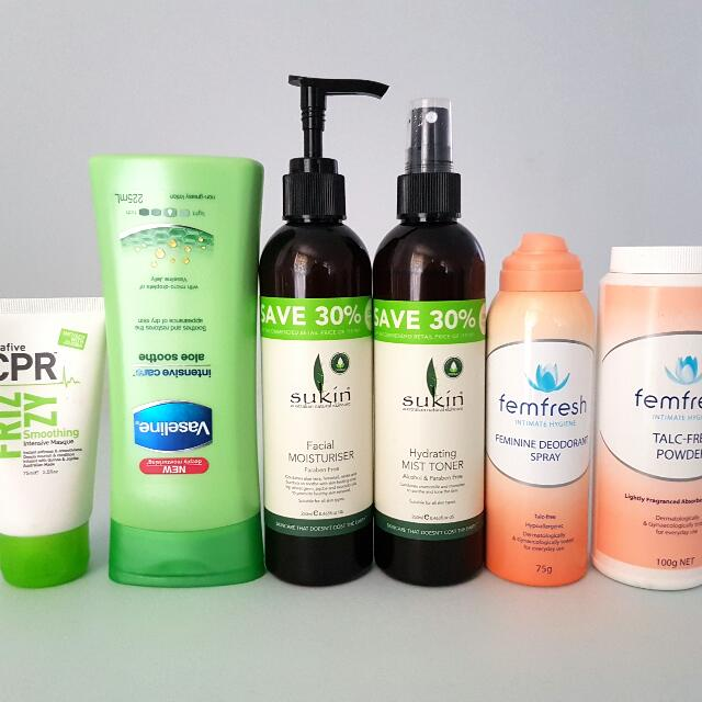 Various Skin Care, Health and Hair Products