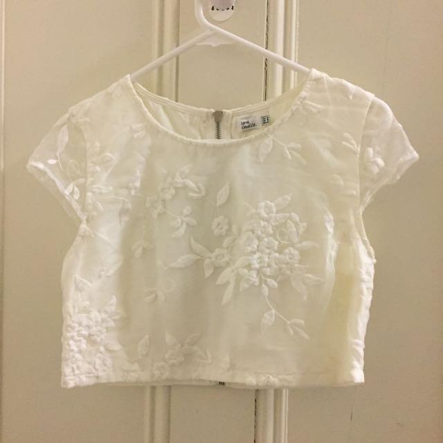 White Mura Boutique Crop Top