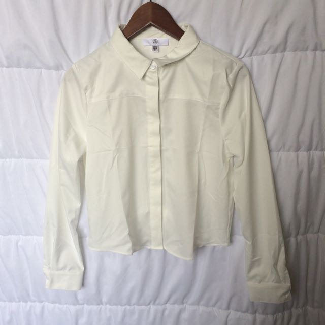 White Open Twist Back Shirt (size 10)
