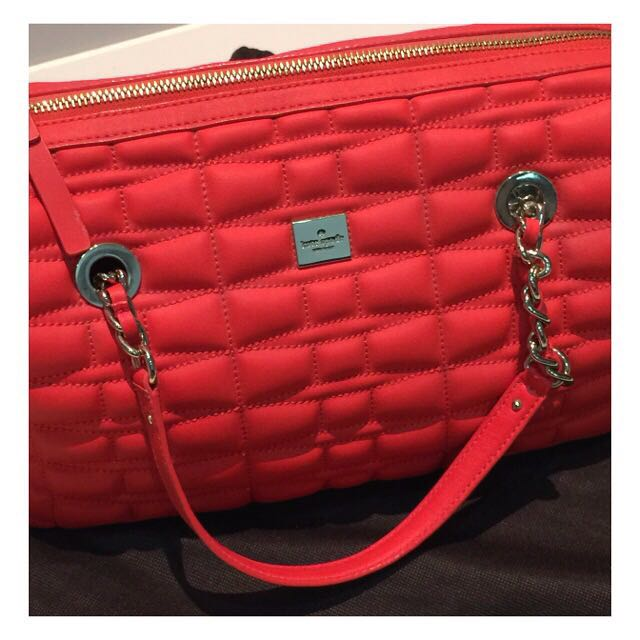 Spade Leather Maxie Quilted Satchel Bag