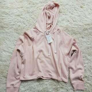 HnM Crop Hoodie Pink