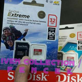 Sandisk Extreme 32 GB Speed Up To 90mb/s