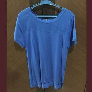 H&M Royal Blue Shirt (Chiffon&Cotton)