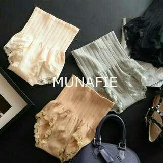 Munafie Slim Panty 80gr / Celana korset renda pelangsing Japan