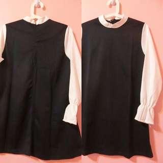現貨全新顯瘦立領氣質連衣裙
