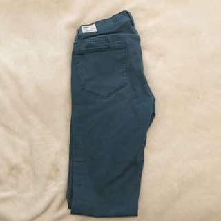 TNA Forest Green Skinny Jeans