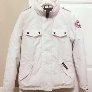 Women's Canada Goose White Winter Jacket
