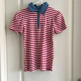 Paul Frank Red Stripe Polo
