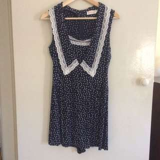Cute Playsuit Dress Size Small