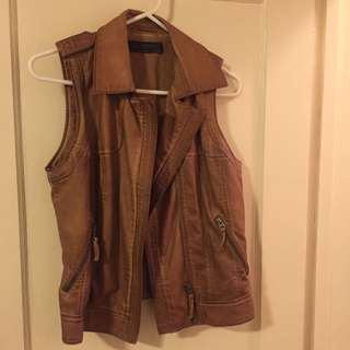 Zara Leather Vest