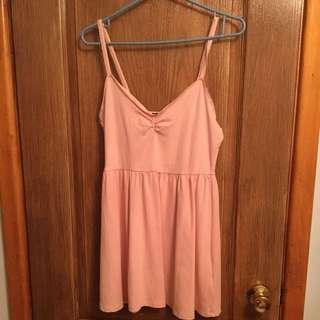 F21 Cute Simple Pink Dress