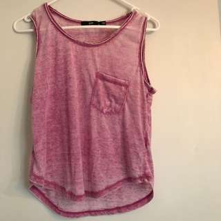 Sportsgirl Vintage Wash Top-purple