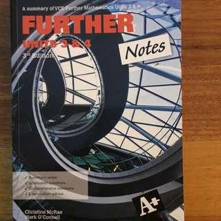 Further Maths Unit 3&4 Notes Textbook