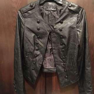 Voguish Leather Jacket Size 8